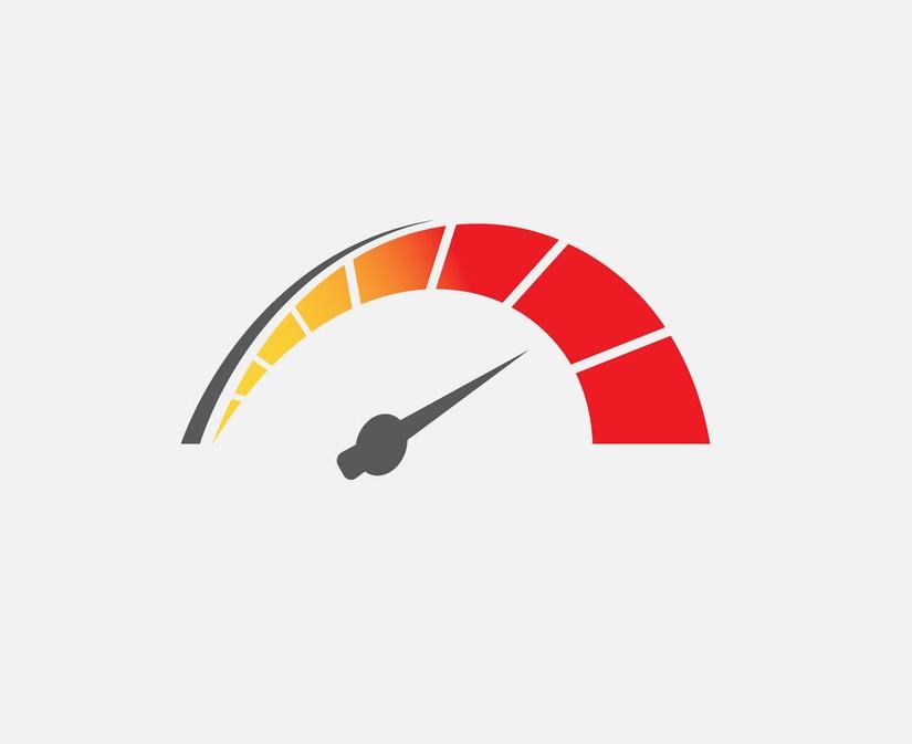meter showing high speed