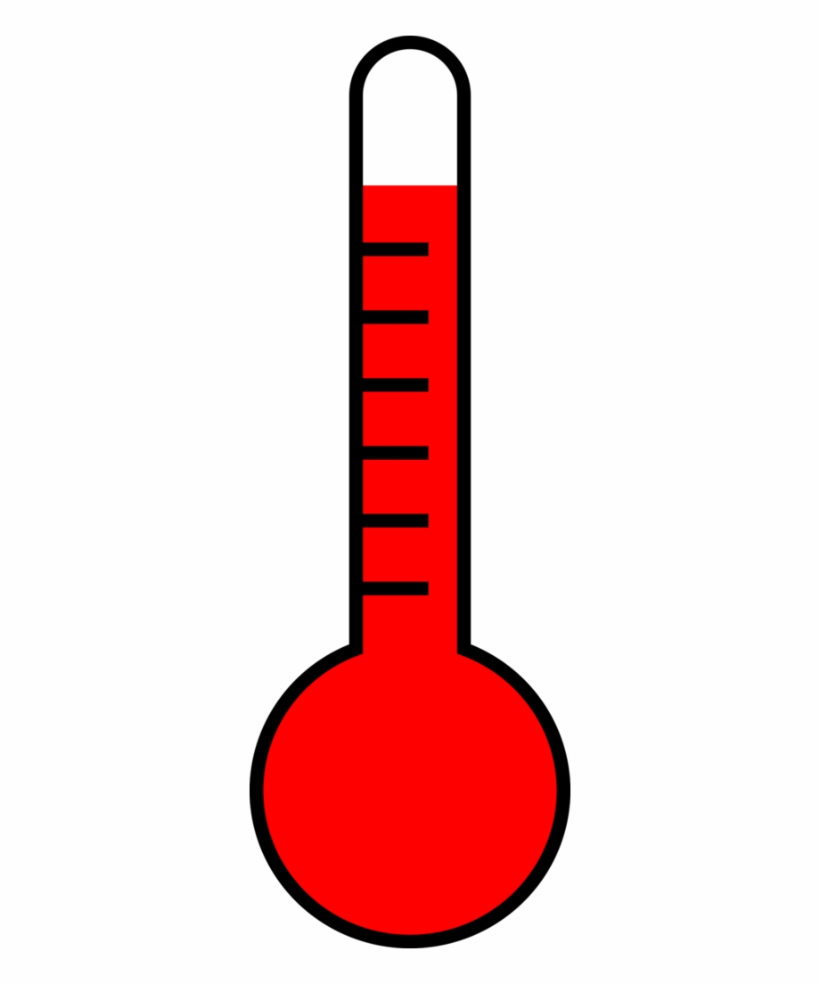 thermometer showing high temperature