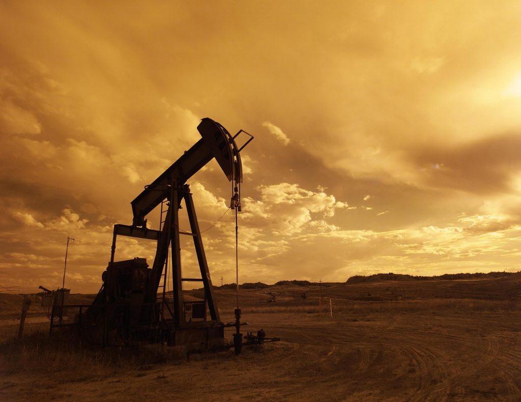 oil refinery in desert