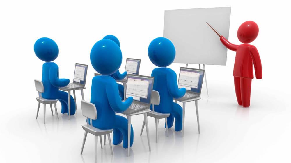 cartoon image of training