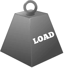 vector image of weight replicating load