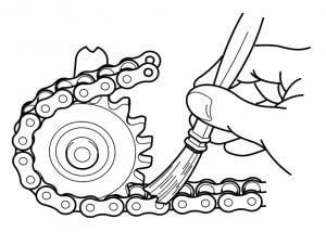 Applying-chain-lubricants-manually